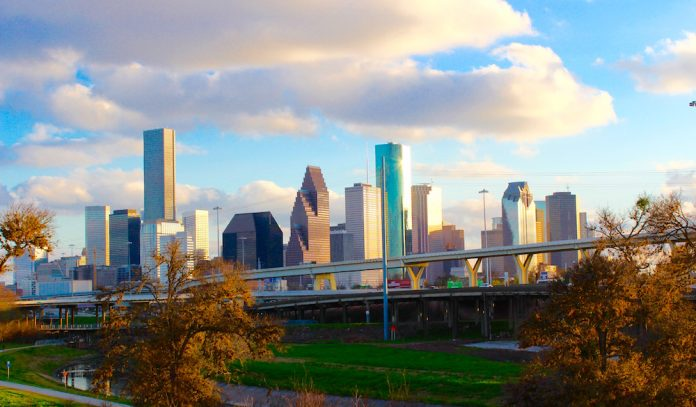 Houston Skyline for Garage Door Service