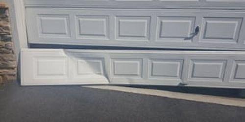 One panel or full garage door panel replacement dent