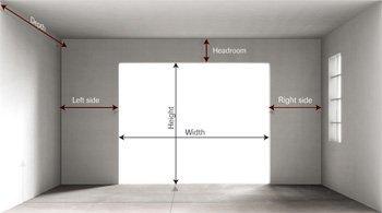 garage door installation estimate and measurements