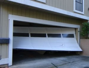 garage door track service needing repair